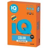 Бумага IQ color А4 80 г/м, OR43 интенсив оранжевая, 100Л  ш/к 16588