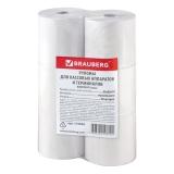 Бумага кассовая, 80х80х18 (80м), термобум./6шт/, BRAUBERG 110896