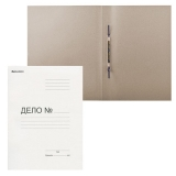 Скоросшиватель картонный мелованный BRAUBERG, гарантированная плотность 440 г/м2, до 200 л, 128987
