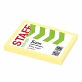 Блок д/з. 76*102мм, 100 листов, желтый,STAFF  129353