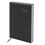 Ежедневник датированный 2020 А5 (138х213мм) BRAUBERG Select, кожзам, черный, 129714