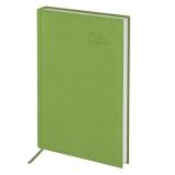 Ежедневник датированный 2020 А5, BRAUBERG Rainbow, гладкая кожа, зеленый, 138*213мм, 129728