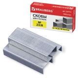 Скобы для степлера BRAUBERG №23/8, 1000 штук, в картонной коробке, до 40 листов, 227715