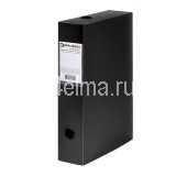 Короб архивный (330х245мм), 70 мм, пластик, разборный, до 600 л, черный,0,9мм,BRAUBERG Energy,231538