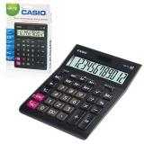 Калькулятор 12 разр. CASIO GR-12-W (209х155 мм),, двойное питание, европодвес, черный