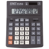 Калькулятор 12 разр. STAFF PLUS STF-333 (200x154мм), двойное питание, 250415
