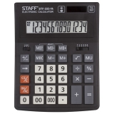 Калькулятор 14 разр.STAFF PLUS  STF-333, двойное питание, 200x154мм