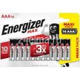 Батарейки Energizer Max AAA (LR03) алкалиновая, 16BL/16шт в упак/