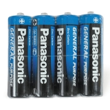 Батарейки PANASONIC AA R6 (316), 4шт в пленке, 1.5В