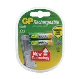 Батарейки аккум. GP, AAA, Ni-Mh, 650mAh, КОМПЛЕКТ 2 шт, в блистере, 65AAAHC-2DECRC2