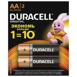 Батарейки DURACELL Basic, AA (LR06, 15А), алкалиновые, КОМПЛЕКТ 2 шт, в блистере (отрывной блок)