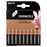 Батарейки DURACELL Basic, AAA (LR03, 24А), алкалин.,/18 шт/, (ш/к 7557)