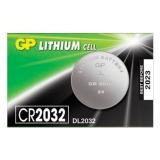 Батарейка GP Lithium, CR2032, литиевая, 1 шт, в блистере (отрывной блок), CR2032-7C5