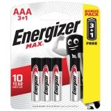 Батарейки ENERGIZER Max,ПРОМО 3+1,AAA(LR03,24А),алкалин,(ш/к /4шт/ цена за 1 шт