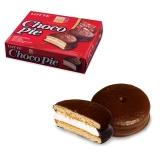 """Печенье LOTTE """"Choco Pie"""", прослоенное глазированное, в картон. упак., 336г (12штук х 28г), шк 40256"""