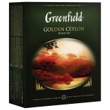 """Чай GREENFIELD """"Golden Ceylon"""", черный, 100 пакетиков в конвертах по 2г, 0581"""
