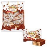 """Конфеты шоколадные РОТ ФРОНТ """"Коровка"""", вафельные с шоколадной начинкой, 250г, пакет, РФ09756"""