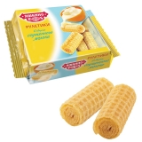 Вафли-рулетики ЯШКИНО со вкусом сгущенного молока, 160г, ш/к 53278