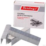Скобы для степлера Berlingo № 23/17 1000 шт., до 140 листов, оцинкованные