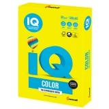 Бумага IQ color БОЛЬШОЙ ФОРМАТ(297х420), А3, 80 г/м, 500 л, неон, желтая, NEOGB, ш/к 12610