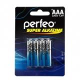 БАТАРЕЙКА PERFEO LR03 4BL SUPER ALKALINE /120/960/