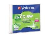 ДИСК CD-RW VERBATIM 8-12X 700MB SLIM